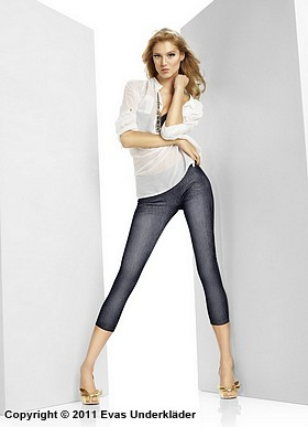 Leggings i jeansimitation, 2